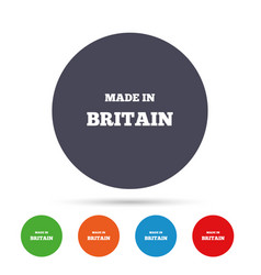 Made in britain icon export production symbol vector