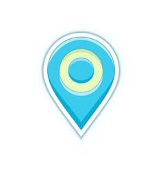 Map location pin vector
