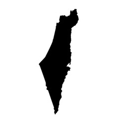 map of israel icon black color flat style simple vector image