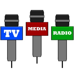 Media microphones vector