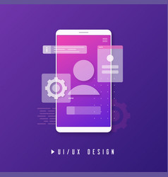 Mobile ui ux design app development concept vector