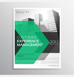 modern green arrow brochure design template for vector image
