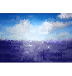 Mosaic Artistic Background of Sea vector