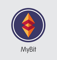 Mybit - crypto currency pictogram vector