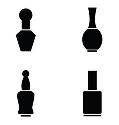 nail polish icon set vector image