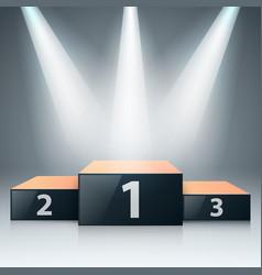 pedestal 3d realistic iconon grey background vector image