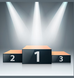 pedestal 3d realistic iconon the grey background vector image