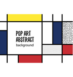 pop art geometry mondrian style line back vector image