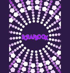 Purple and white abstract background with circle vector
