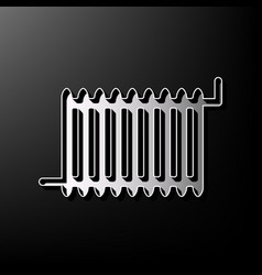 radiator sign gray 3d printed icon on vector image