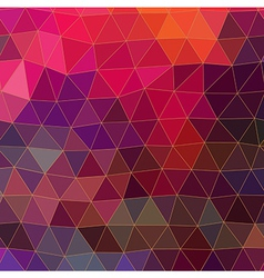 Retro pattern of geometric shapes Triangle vector image