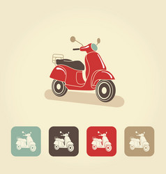 Retro scooter isolated italian style vector