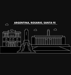 Rosario santa fe silhouette skyline argentina vector