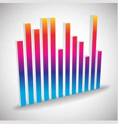 Single 3d eq equalizer element isolated on white vector