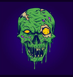skull zombie isolated vector image