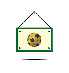 Soccer ball board sport flat design icon vector