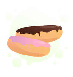 sweet eclairs vector image
