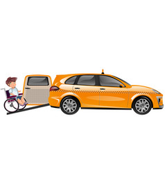 taxi designed for transportation of persons with vector image