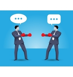 Tough negotiation business concept vector image