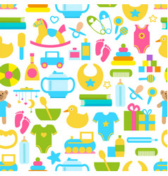 Toys for children set pattern vector