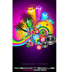 tropical event disco vector image