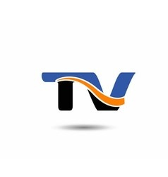 TV company linked letter logo vector image