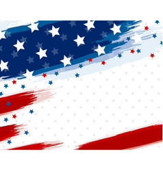 Usa or american flag paintbrush banner vector