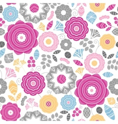 Vibrant floral scaterred seamless pattern vector