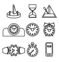 Wall mounted digital clock vector image