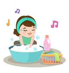 washing vector image