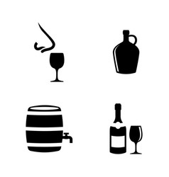 wine making sommelier simple related vector image