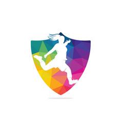 Women football club logo vector