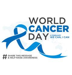 World cancer day element vector