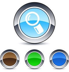 zoom round button vector image
