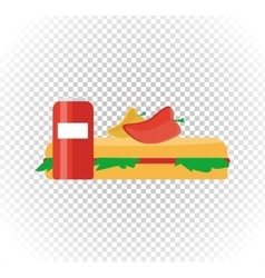 Fast Food Burger and Drink Flat Design vector image vector image