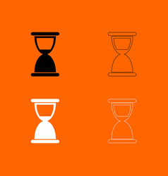 hourglass black and white set icon vector image