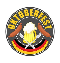 Oktoberfest logo - Traditional annual Beer vector image vector image