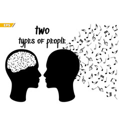 people perceive music differently musical talent vector image