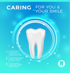 protection of healthy teeth pictures for vector image vector image