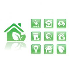 green icons home vector image