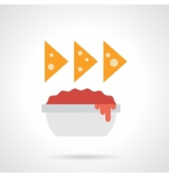 Nachos color flat icon vector image vector image