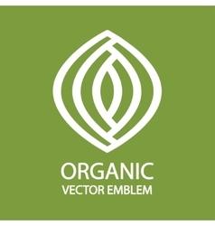 Organic farming logo design idea vector image vector image