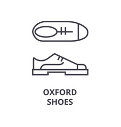 oxford shoes line icon outline sign linear vector image vector image