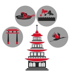 pagoda traditional building japanese architecture vector image