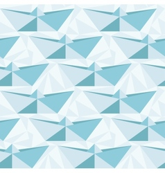 Seamless geometric pattern with origami boats vector image vector image