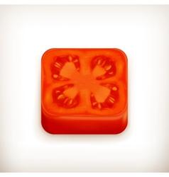 Slice of tomato app icon vector image vector image