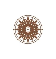 Symmetric ornament sign vector image