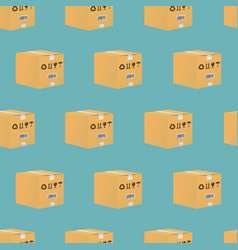 cardboard box seamless pattern vector image vector image