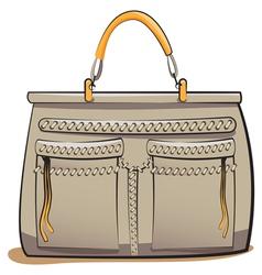 gray ladies handbag vector image vector image