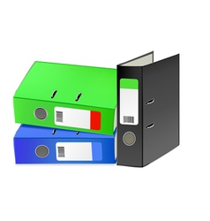 Multi-colored office folders vector image vector image
